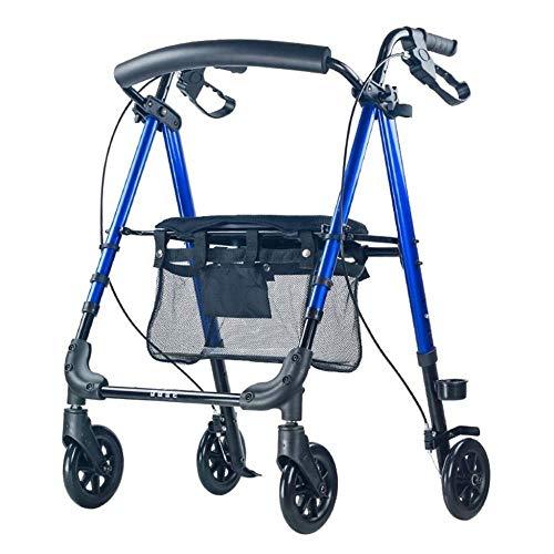 Andadores para discapacidad Andador para Ancianos De Cuatro Ruedas de la Carretilla Antideslizante Bastón con Andador Andador Hospital