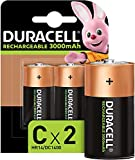 Duracell Rechargeable C 3000 mAh Batteries, Pack of2