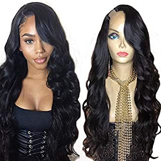Foxy's Hair Body Wave U Part Wig 100% Brazilian Human Hair Natural Color Side Part Glueless U Part Human Hair Wigs Wavy Upart Wigs For Black Woman(14inches 130% Density)