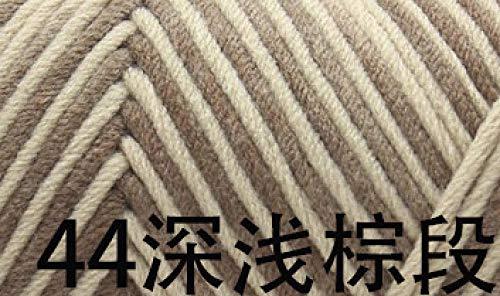 FGHOMEYWXC 1 Rolle mit 8 Fäden Milchwatte Schal Schal-44 Brauntöne