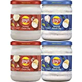 Lay's Dip Variety Pack, French Onion & Smooth Ranch, 15 Oz Jars, 4 Count