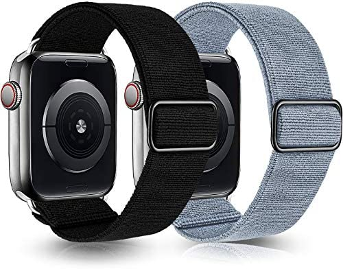 Greatfine Stretchy Solo Loop Strap Compatible with Apple Watch Bands 38mm 40mm Elastic Nylon product image