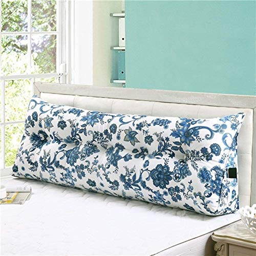 Canvas Winkel Kissen Wedge zum Schlafen Kissen Großen Rückenlehne Positionierungshilfe Lesekissen Bed Sit Up Kissen (Color : K, Size : 150x20x50cm(59x8x20inch))