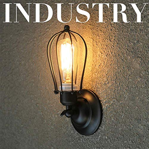 Beautiful Home Lighting wandlamp/body zwart licht LED wandlamp plafondlamp stijl E27 industriële stijl wandlamp voor tuin garage terras hal