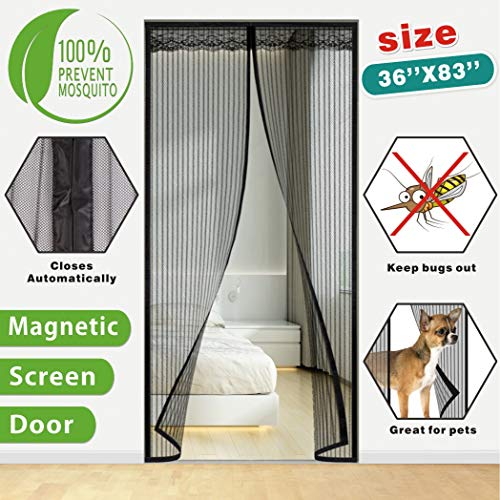Idefair Puerta magnética para mosquiteras, insectos