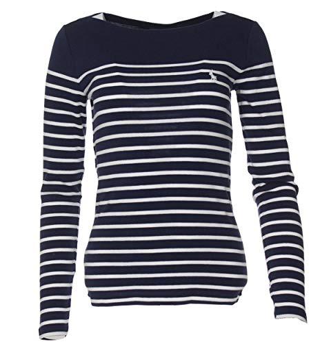 Ralph Lauren - Maglione da donna a righe orizzontali Navy/bianco S