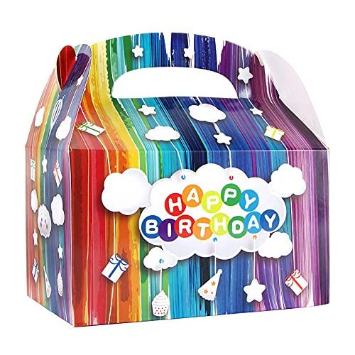 BETESSIN 20Pz Scatole Regalo Compleanno Colorate Scatola Carta Bomboniere Portaconfetti Happy Birthday per Festa Compleanni Confetti Caramelle Cupcake