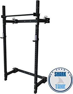 PRx Performance Murphy Rack Fold in, Wall Mounted Squat Rack, Weight Lifting Power Rack with Pull Up Bar, Home Gym Equipment