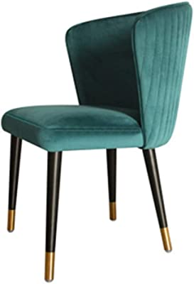 Velvet Upholstered Occasional Chairs, with Metal Legs, Soft Seat and Back Dining Table and Chairs, for Home & Commercial Living Room Bedroom Kitchen Restaurants,c
