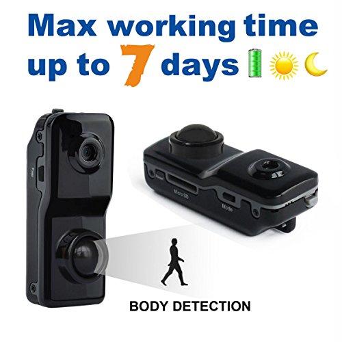 Conbrov DV089mini telecamera nascosta, corpo cam covert, movimento attivato, sicurezza video registratore, massima autonomia di lavoro fino a 7giorni