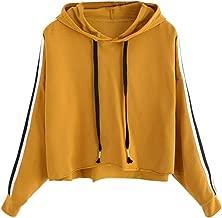Women Long Sleeve Hoodie Sweatshirt Drawstring Pullover Tops Fashion Blouse