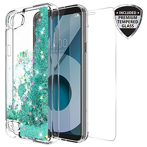 LG Q6 Case, LG Q6 Plus Case, With Tempered Glass Screen Protector Cute Sparkly Glitter Bling Luxury  - http://coolthings.us