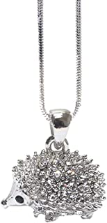 Lola Bella Gifts Crystal Hedgehog Fashion Necklace