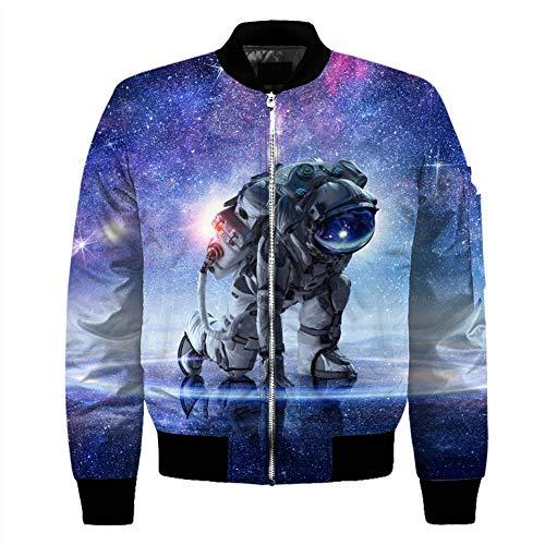 WANXX 3D Gedruckt Zip Jacke Astronaut Drucken männer Street Kleidung,Tyjmjk009,4XL