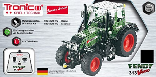 RC Metallbaukasten, RC FENDT 313 VARIO, RC Traktor, ferngesteuert, 27 MHZ, Maßstab 1:24, 574 Teile, Tronico, Baukasten inklusive Werkzeug*