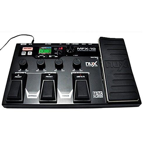 douself Procesador NUX MFX-10 Modelado Guitarra guitarra pedal de efectos de percusión Grabadora Efecto Preajuste de múltiples funciones