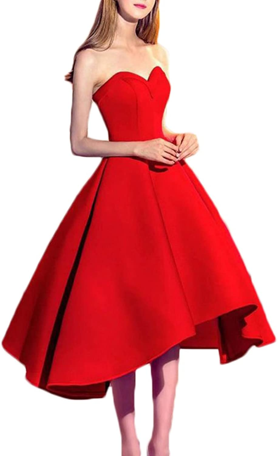 Alilith.Z Sexy Sweetheart Princess Homecoming Dresses 2018 Tea Length Formal Prom Party Gowns for Women High Low