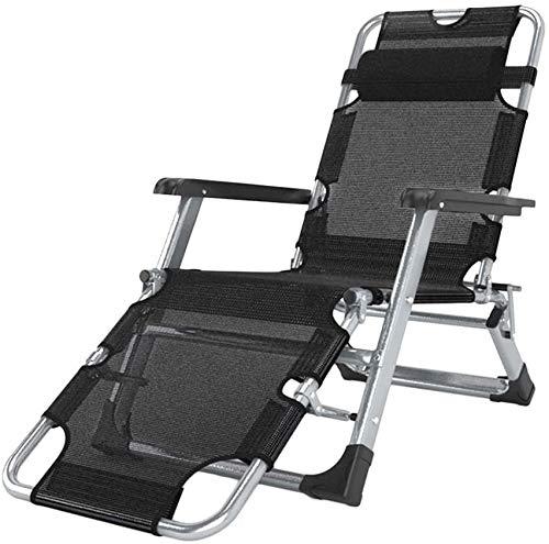 Silla de respaldo para exteriores, silla de exterior, silla para exterior, tumbona interior, tumbona de jardín, ligera, con cojín, con cojín