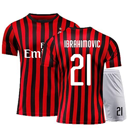 PUPPYY Milan9# 10# 13# 19# 21# 22# 20-21 (Home & Away) Kind Erwachsene Fußballanzüge, Männer Fußball Uniform Fußball Trikots Kits, Fußball Geschenk 21#-120