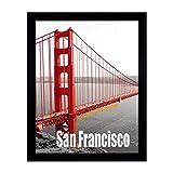 Fametory Poster Rahmen Metall Golden Gate Bridge Galerie