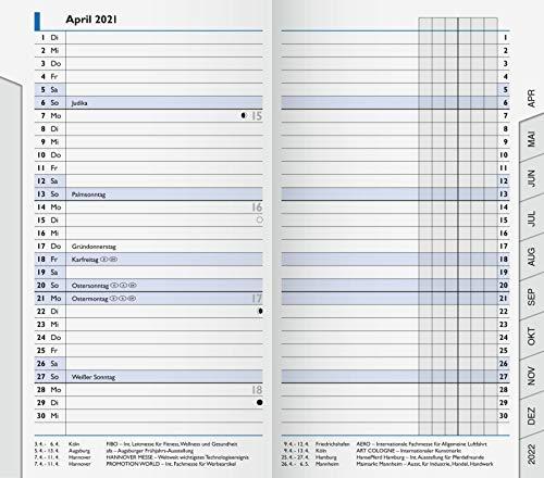 BRUNNEN 1075300001 Taschenkalender/Monats-Sichtkalender Modell 753 Ersatzkalendarium, 2 Seiten = 1 Monat, 8,7 x 15,3 cm, Kalendarium 2021