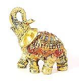 HOMERRY Feng Shui - Figuras de elefante retro con tronco para decoración del hogar, escultura de elefante de la suerte y estatua