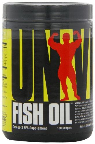 Universal Nutrition Fish Oil Omega-3 EPA DHA Essentielle Fettsäure 100 Softgel Kapseln