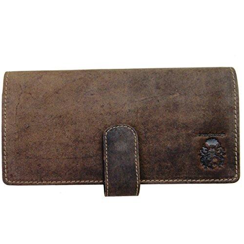 Baron of MALTZAHN Langbörse Portemonnaie mit iPhonefach BERGGRUEN aus Leder