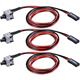 Warmstor 3-Pack 2 Pin SW PC Desktop Power Cable on/Off Push Button ATX Computer Switch Cord 45CM
