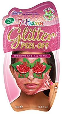 7th Heaven Glitter Peel-Off Face Mask with Pressed Pomegranate, Squeeze Blueberries and Crushed Cranberries Removes Dirt and Grime and Easy Peel Mask for Normal, combo and Oily skin