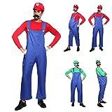 Anladia Disfraz de Mario Bros para Adulto Hombre Cosplay Dress Fiesta Carnaval Halloween Talla M (40) L (42) (Talla M (40))