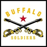 One (3') Diameter Cloth Patch Buffalo Soldiers Logo Sq. Can Be Ironed On Or Sewn Works On All Clothing