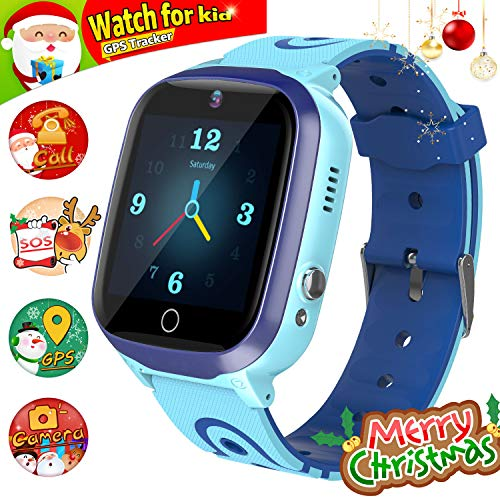 YENISEY Kids Smart Watch for Boys Smartwatch WiFi/GPS Tracker Watch, Kids GPS Tracker Watch Activity Tracker Digital Watch, Touch Screen HD Camera Pedometer SOS for Boys Girls Gift