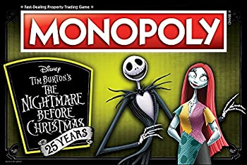 Monopoly Disney Nightmare Before Christmas 25 Years Board Game   25th Anniversary Collector s Edition   Collectible Monopoly Tokens