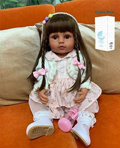 Zero Pam 55cm Reborn Baby Dolls Silicone Full Body Waterproof 22inches Anatomically Correct product image