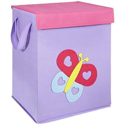 LOMOS caja para juguetes con diferentes motivos colorido y mucho espacio para almacenar (37x 30x 26cm)