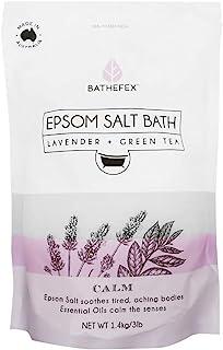 Bathefex Lavender and Green Tea Epsom Salt Bath, 1.4kg