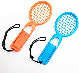 Rabugoo 小型 テニスラケット スイッチ ジョイ コンコントローラ 左 右 ハンドル マリオテニスエースゲーム用 2pcs / set