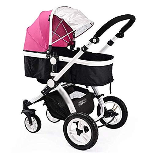 Find Bargain Gflyme Stroller Strollers Can Sit and Gently Fold High Landscape Two-Way Cart Newborns,...