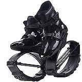 Scarpe da rimbalzo antigravità da uomo, scarpe da rimbalzo professionali per principianti per bambini, scarpe da corsa canguro nere comode e traspiranti(Size:38)