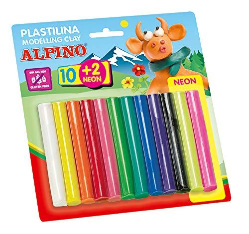 Alpino DP000018 – Blister con 12 rollitos de plastilina