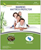 King Size Bamboo Mattress Protector - Waterproof Fitted Sheet Mattress Cover Hypoallergenic Premium Quality Soft Pad Protects from Dust Allergies