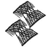 BETOY - Peine de pelo mágico, 4 unidades, pinza de pelo, horquilla de pelo elástica, clip para el pelo, peineta para el pelo, herramienta de peinado (negro)