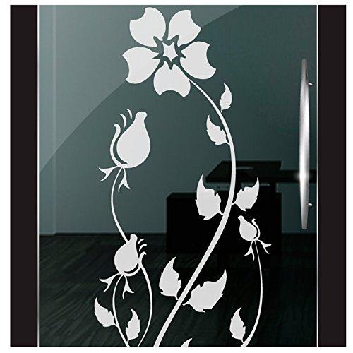 DD Dotzler Design 2111-13 Fenster Milchglas Motiv Blume Rose floral Blumen Milchglasfolie Glas Aufkleber Sichtschutz