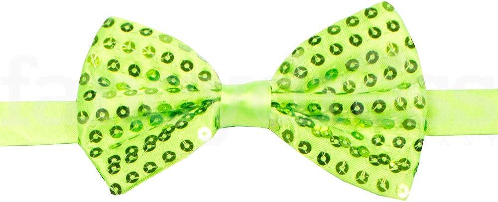 Clown Sequin Bow Tie Fancy Dress Accessory 4 Colours Tap Dance Costume Free P+P