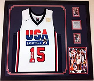 Magic Johnson Autographed Framed Jersey USA Olympic Dream Team Signed PSA Frame
