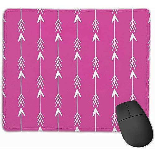 Flèches rangées de flèches Magenta rangée bébé Mignon Chambre d'enfant bébé Tissu flèches Tissu flèche Design Tapis de Souris Tapis de Souris