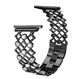 Aottom Compatibile Cinturino Apple Watch 38mm Cinturino Apple Watch Series 6 40mm Cinturino Acciaio Inossidabile Apple Watch 5 Ricambio Donne Fibbia Cinturino per iWatch Series SE/6/5/4/3/2/1, Nero
