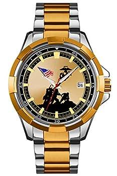 U.S Marine Corps Iwo Jima Stainless Steel Mens Watch - 30m Water Resistant