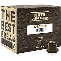 """Note D'Espresso - Cápsulas de café """"Deciso"""" exclusivamente compatibles con cafeteras Nespresso*, 5,6g (caja de 100 unidades)"""